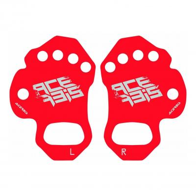 Protection paume Acerbis Palmino rouge