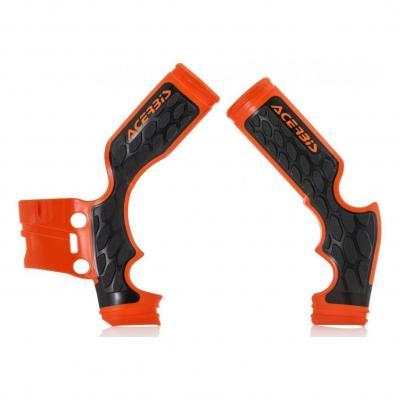 Protections de cadre Acerbis X-grip Husqvarna 65 TC 16-18 (orange 2)