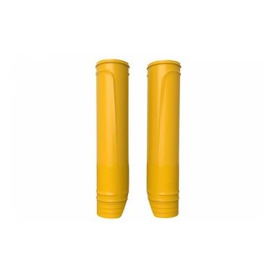 Protections de fourche Polisport jaune (protections fourreaux)