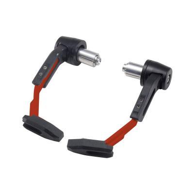 Protections de leviers en plastique noir/rouge