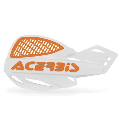 Protège-mains Acerbis UNIKO ventilé blanc/orange (paire)