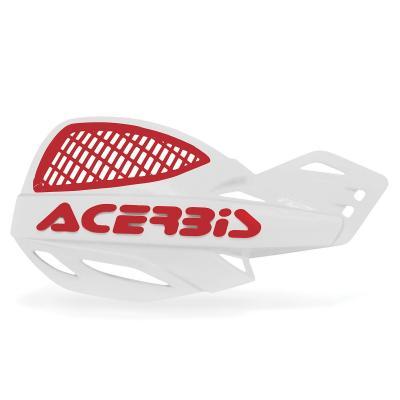 Protège-mains Acerbis UNIKO ventilé blanc/rouge (paire)
