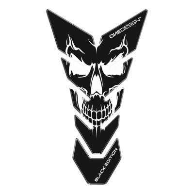 Protège réservoir Onedesign Black Edition Skull 3 noir/blanc