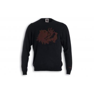 Pull Malossi griffe lion noir