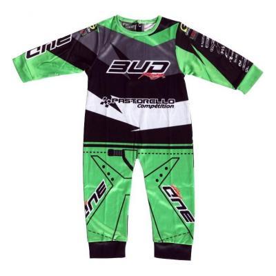 Pyjama 1 pièce Team Bud Racing vert/noir