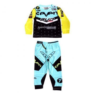 Pyjama 2 pièces Bud Racing 225 bleu/jaune