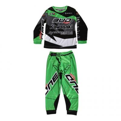 Pyjama 2 pièces Team Bud Racing vert/noir