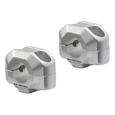 Rehausse de guidon SW Motech Ø 22 mm H=15 mm gris