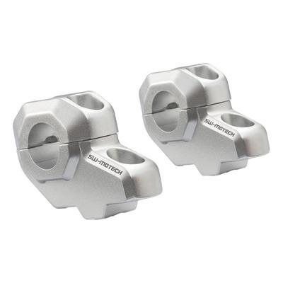 Rehausse de guidon SW Motech Ø 22 mm H=30 mm recul de 21 mm aluminium