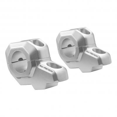 Réhausses de guidon SW-MOTECH +30 mm recul 22 mm alu Ø28,6 mm