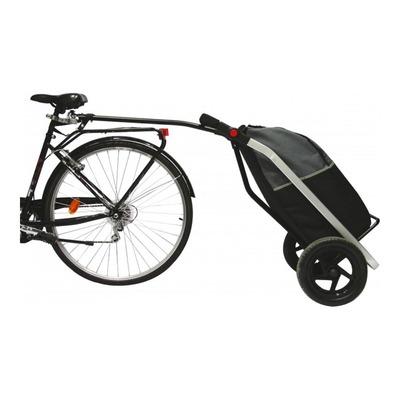 Remorque vélo shopping trailer noire (50L)