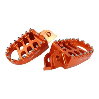 Repose-pieds Bike Tek oranges KTM EXC 300 98-16