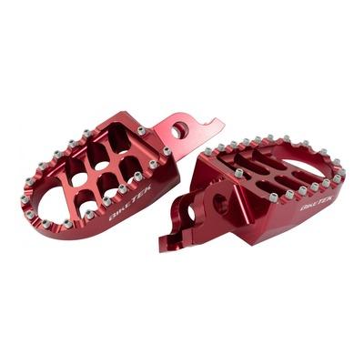Repose-pieds Bike Tek rouges Honda CRF 250 R 04-20