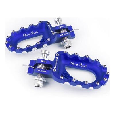 Repose-pieds bleu racing S3 Hard-Rock alu pour Trial