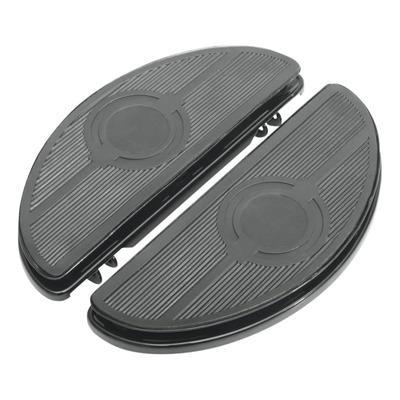 Repose pieds demi-lune Drag Specialties anti-vibrations Harley Davidson Tour-Glide 99-20 noir