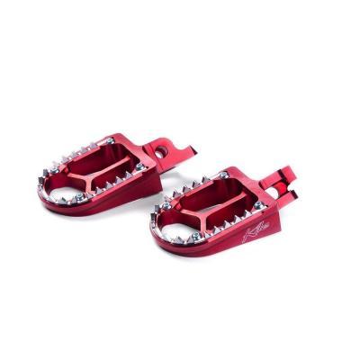 Repose pieds Kite Husqvarna 250 TC 01-13 rouge
