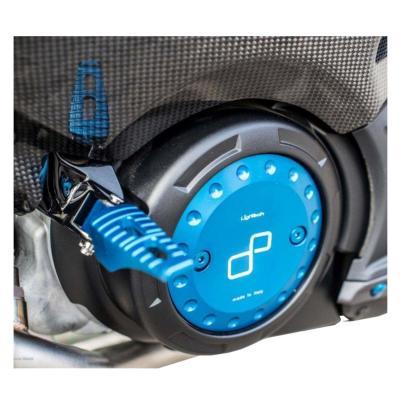 Repose-pieds passager Lightech bleus pour Yamaha T-Max 530 12-16
