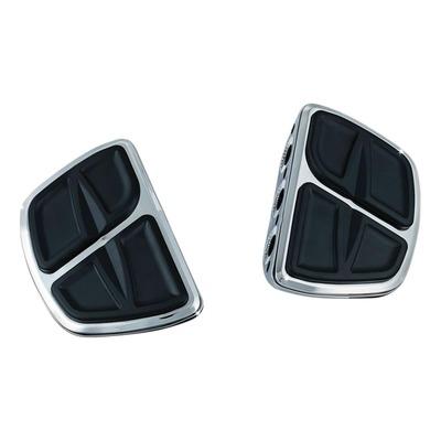 Repose pieds plateau cannelures mini pilote/passager Kuryakyn chrome