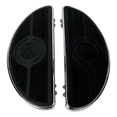 Repose pieds plateau demi-lune Drag Specialties Harley Davidson Tour-Glide 99-20 chrome