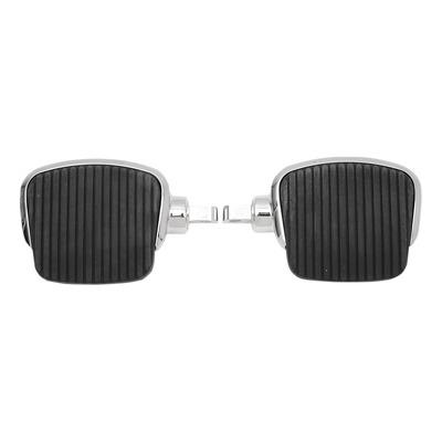 Repose pieds plateau mini Drag Specialties 4'' type mâle chrome