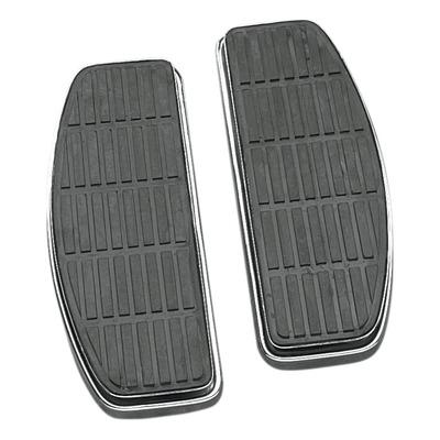 Repose pieds plateau pilote Drag Specialties type origine Harley Davidson Fat Boy 00-17 chrome