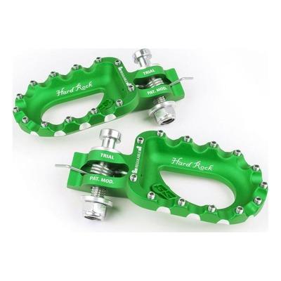 Repose-pieds vert racing S3 Hard-Rock alu pour Trial
