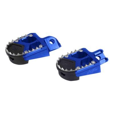 Reposes pieds aluminium Kite SM bleus pour Yamaha YZF 450 03-20
