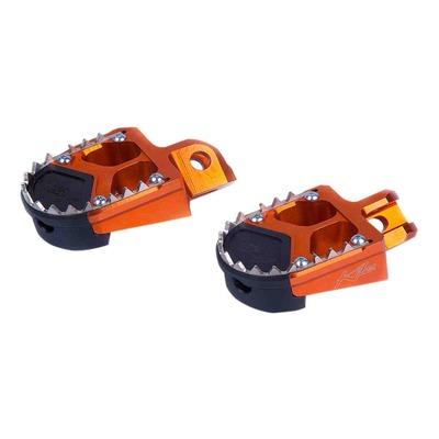 Reposes pieds aluminium Kite SM orange pour KTM 450 SM 00-15