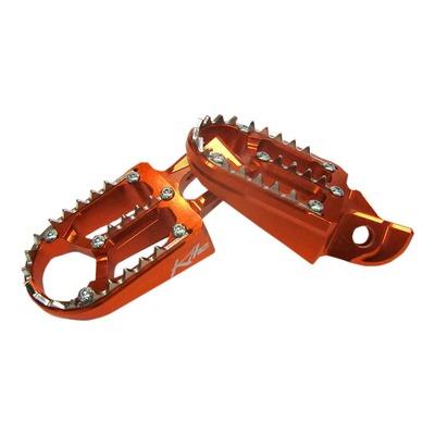 Reposes pieds aluminium Kite TT oranges pour KTM EXC 250 17-21