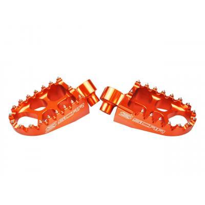 Reposes pieds Scar Evolution orange pour KTM SX-F 250 16-18