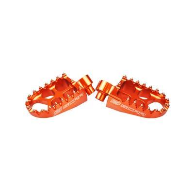 Reposes pieds Scar Evolution orange pour KTM SX 125 98-15