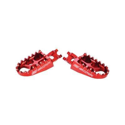 Reposes pieds Scar Evolution rouge pour Honda CRF 250 R 04-16