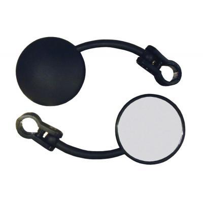 Rétroviseur droit round mini enduro repliable fixation guidon
