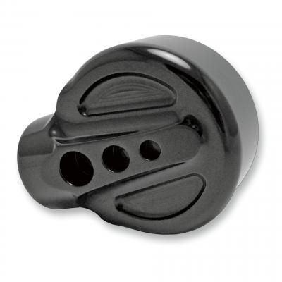 Rétroviseur Joker Machine caché rond Ø57mm réversible motif arrière embout de guidon (seul) noir