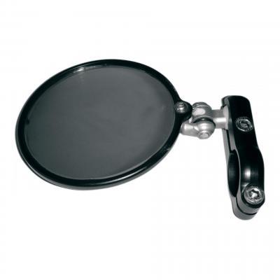 Rétroviseur latéral Gauche Hindsight miroir rond Ø76mm rabattable (seul) noir
