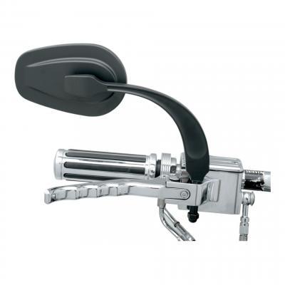 Rétroviseur Rwg ovale droit Profilé miroir convexe Harley Davidson (seul) noir mat