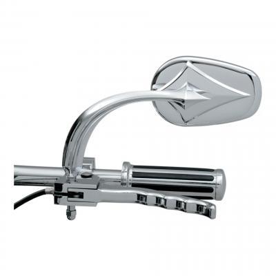 Rétroviseur Rwg ovale gauche Diamant miroir convexe Harley Davidson (seul) chrome
