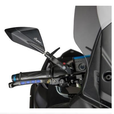 Rétroviseurs aluminium Lightech noir Yamaha T-Max 530 2012-17 (paire)