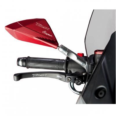Rétroviseurs aluminium rouge Lightech Yamaha T-Max 530 2012-16