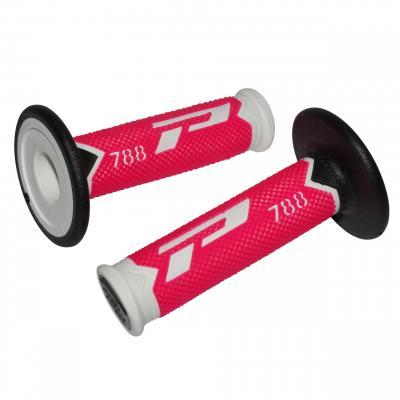 Revêtements de poignée 788 Progrip blanc/rose fluo/noir
