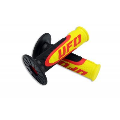 Revêtements de poignée UFO Axiom noir/jaune/rouge