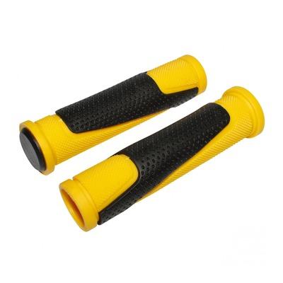 Revêtements de poignées vélo Newton Bi-Matière jaune/noir