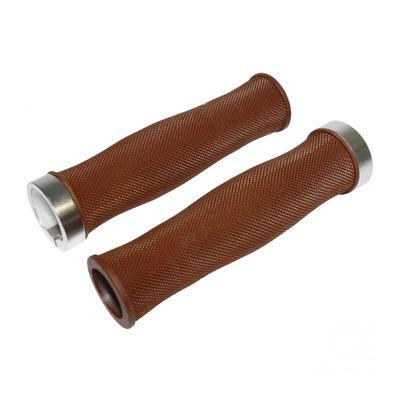 Revêtements de poignées vélo Newton Grip Oval Diamants marron