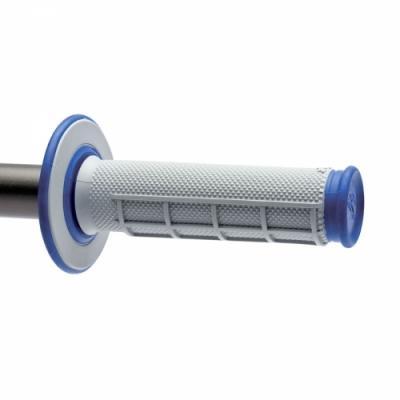 Revêtements MX Renthal Dual Grip gris / bleu
