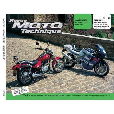 Revue Moto Technique 110.2 Kawasaki BN125 97-98 / Suzuki GSX-R 600 97-00