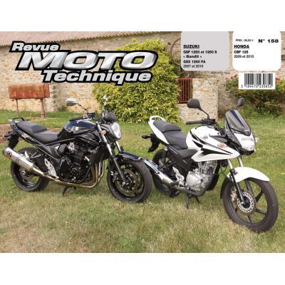 Revue Moto Technique 158.1 Honda CBF 125 / Suzuki GSF/GSX 1250 Bandit