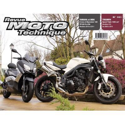 Revue Moto Technique 161 Yamaha YP 125 R X-Max / MBK Skycruiser 125 / Triumph Speed Triple