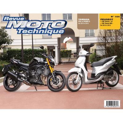 Revue Moto Technique 164 Peugeot 125 Tweet 10-12 / Yamaha FZ8 10-12