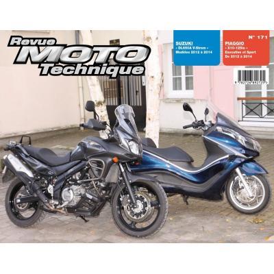 Revue Moto Technique 171 Piaggio X10 125ie / Suzuki DL650A V-Strom 12-14