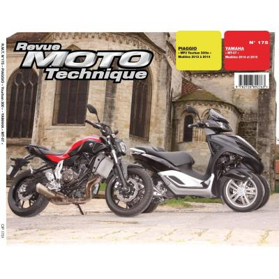 Revue Moto Technique 175 Piaggio Yourban MP3 12-14 / Yamaha MT-07 14-15